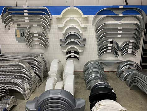 aluminum trailer fenders at American Discount Marine